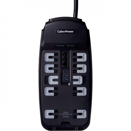 CSP1008T Professional 10-Outlets Surge Suppressor 8FT Cord and TEL