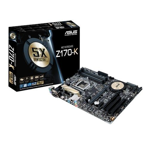 Asus Z170-K Desktop Motherboard - Intel Z170 Chipset - Socket H4 LGA-1151