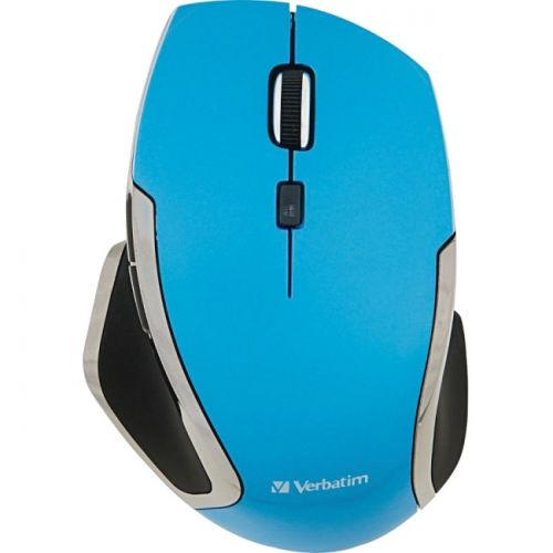 Verbatim Wireless Notebook 6-Button Deluxe Blue LED Mouse - Blue