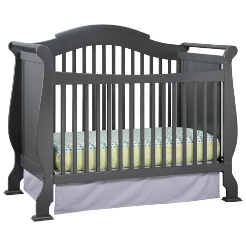 stork craft valentia 4in1 convertible crib grey baby cribs best buy canada - Convertible Baby Cribs