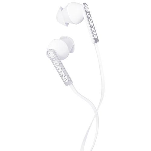 Écouteurs bouton Ibiza d'Urbanista avec GoFit et commande de volume - Blanc