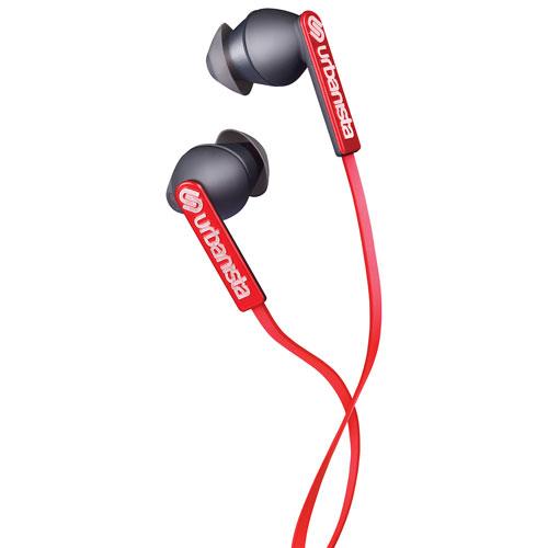 Écouteurs bouton Ibiza d'Urbanista avec GoFit et commande du volume - Rouge