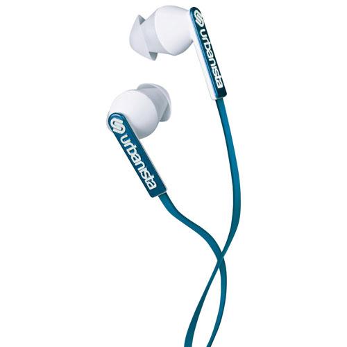 Écouteurs bouton Ibiza d'Urbanista avec GoFit et commande du volume - Bleu