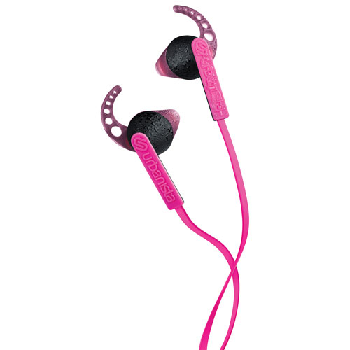 Urbanista Rio In-Ear Sport Headphones with GoFit, Remote & Mic - Pink