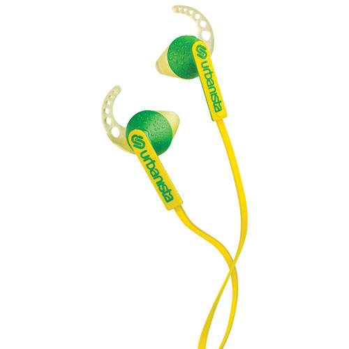Urbanista Rio In-Ear Sport Headphones with GoFit, Remote & Mic - Yellow