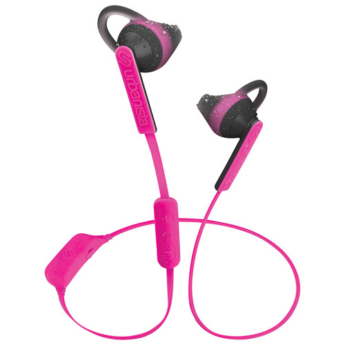 Urbanista Boston In-Ear Sport Headphones with Mic & Volume Control - Pink