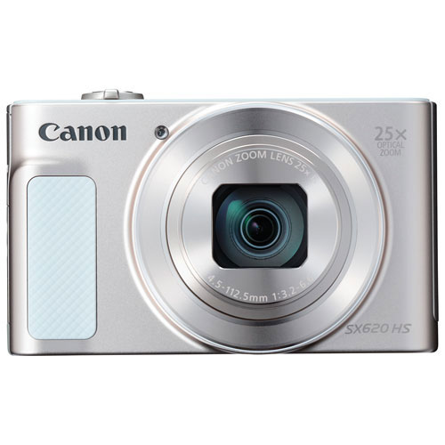 Appareil photo numérique PowerShot SX620 HS Wi-Fi 20,2 Mpx et zoom optique 25x de Canon - Argenté