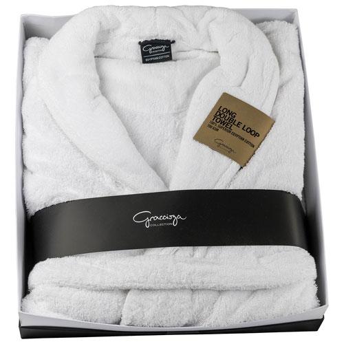 Graccioza Bath Robe - Medium - White
