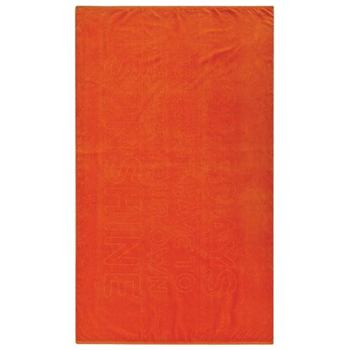 Ensemble de 2 serviettes de plage Sunshine de Graccioza - Orange