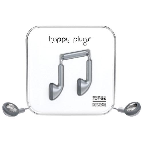 Happy Plugs Deluxe In-Ear Headphones with Mic - Space Grey