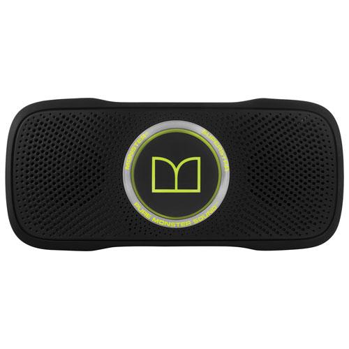 Haut-parleur Bluetooth SuperStar BackFloat de Monster - Noir - Vert néon