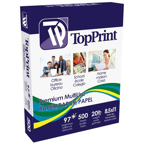 500 feuilles 8,5 x 11 po de papier à usages multiples de TopPrint