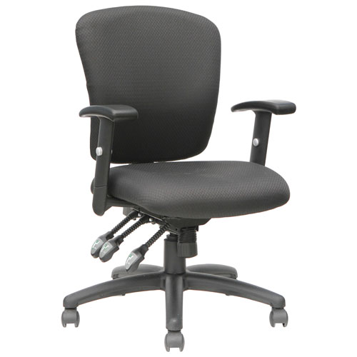 tygerclaw ergonomic mid back fabric office chair black office chairs best buy canada. Black Bedroom Furniture Sets. Home Design Ideas