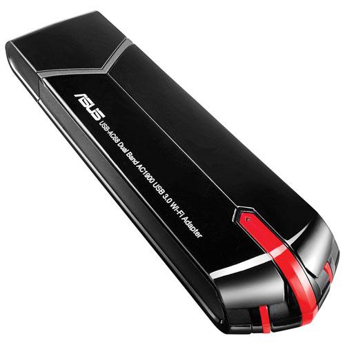 Adaptateur USB sans fil AC1900 d'ASUS (USB-AC68)