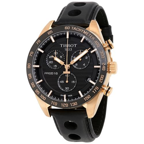 48935d65932 Tissot PRS 516 Chronograph Black Dial Mens Watch T1004173605100 ...