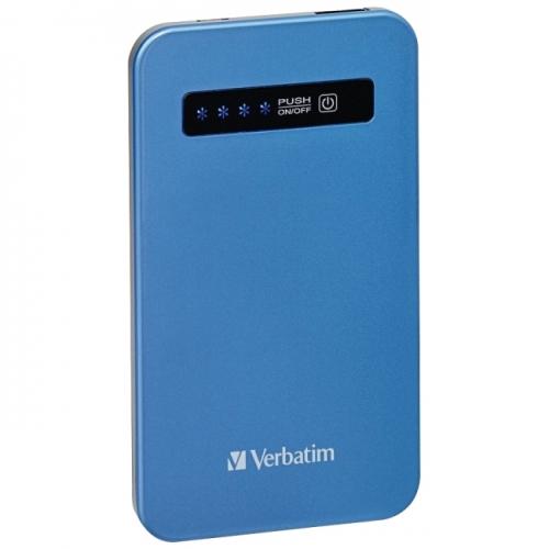 Verbatim Ultra-Slim Power Pack, 4200mAh - Aqua Blue