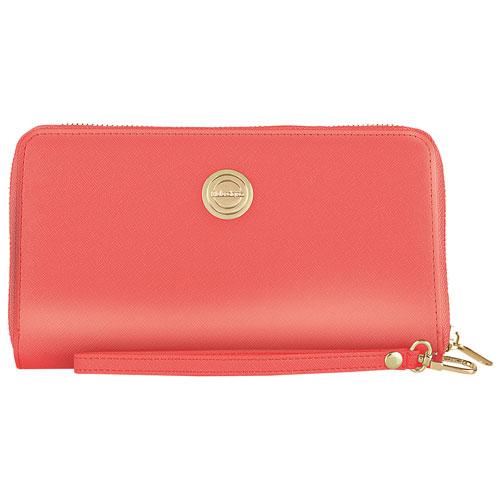 Étui-portefeuille avec dragonne Spade de Catherine Malandrino pour téléphone intelligent - Rose