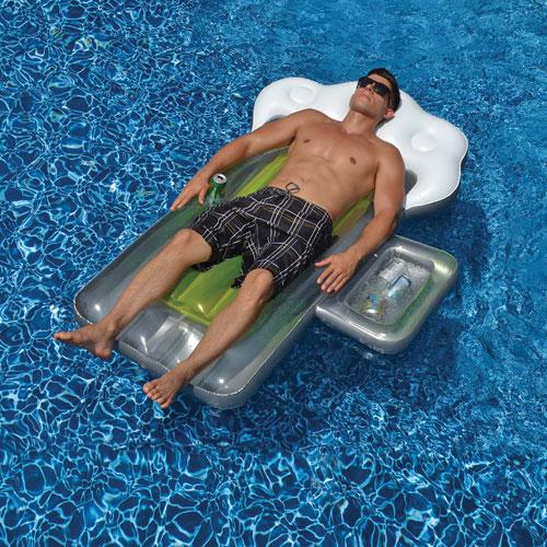 Matelas gonflable de 72 po pour piscine de Swimline - Argenté - Jaune