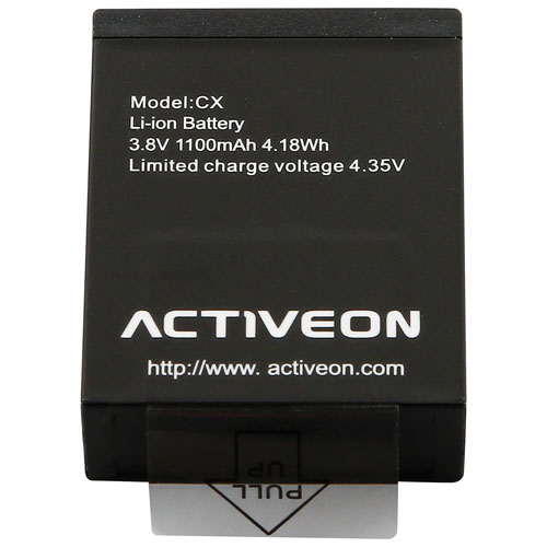 ACTIVEON Rechargeable Battery for CX & CX Gold Cameras (ACA01RB)