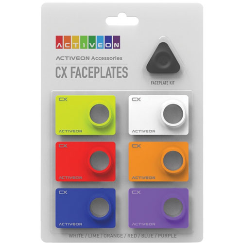 ACTIVEON CX Coloured Faceplates for CX Action Camera
