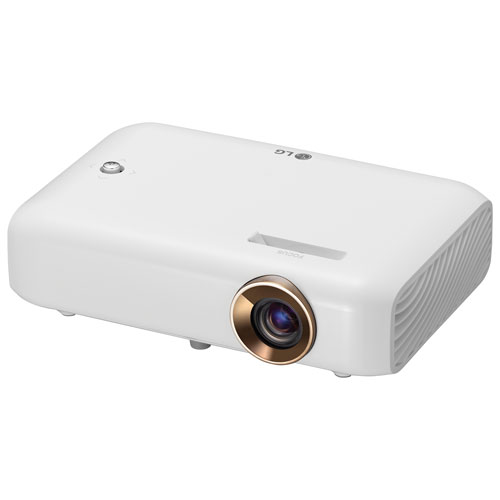 LG Minibeam HD LED Home Theatre Projector with Built-In Battery & Screen Share (PH550.ACC)