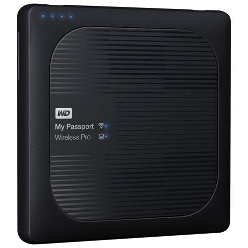 WD My Passport Wireless Pro 1-Bay 3TB Network Attached Storage (WDBSMT0030BBK-NESN)
