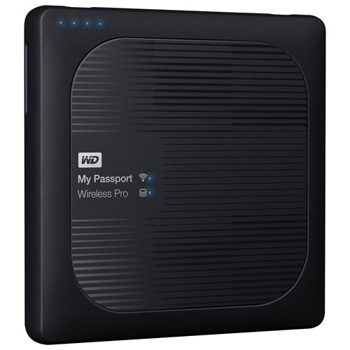 WD My Passport Wireless Pro 1-Bay 2TB Network Attached Storage (WDBP2P0020BBK-NESN)