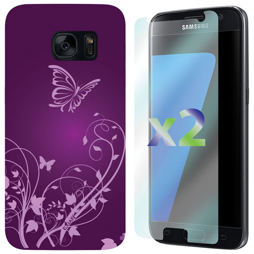 Exian Samsung Galaxy S7 Fitted Soft Shell Case - Purple