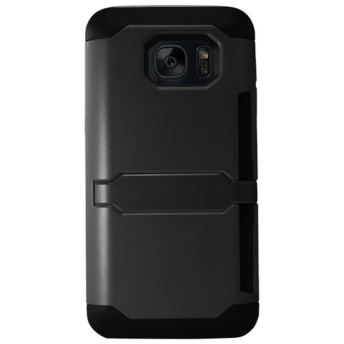 Exian Samsung Galaxy S7 Edge Fitted Soft Shell Case - Black