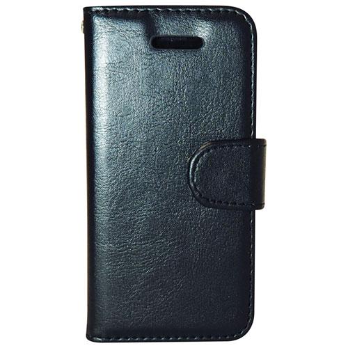 Étui folio d'Exian pour Galaxy S7 Edge de Samsung - Noir