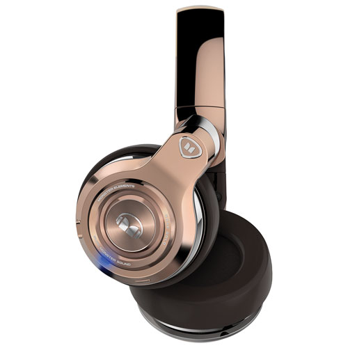 Monster Elements Over-Ear Sound Isolating WIreless Headphones with Mic - Rose Gold