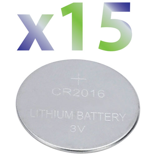 Pile 3 V CR2016 d'Exian (IB027-PK15) - Paquet de 15