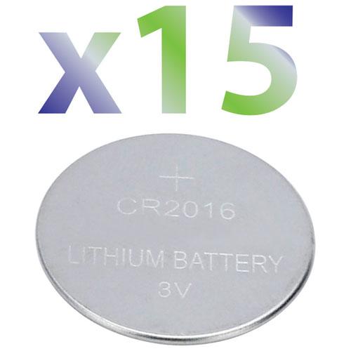 Exian 3V CR2016 Battery (IB027-PK15) - 15 Pack