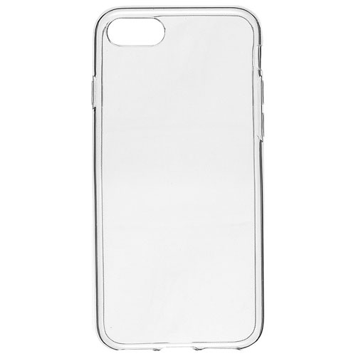 f1bd5b0bbc31e Insignia iPhone 7/8 Fitted Soft Shell Case - Clear - Only at Best Buy