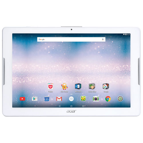 """Acer Iconia One 10.1"""" 16GB Android 6.0 Tablet with MT8163 Quad-Core Processor - White"""