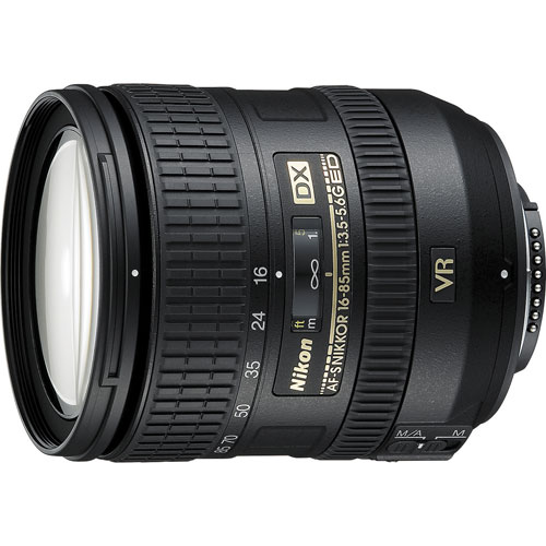 Nikon AF-S NIKKOR 16-85mm f/3.5-5.6G ED VR Lens - Refurbished