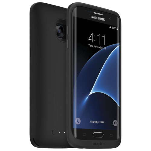 mophie Juice Pack Galaxy S7 Edge Wireless Battery Case - Black