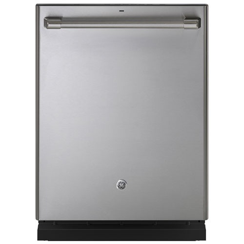 "GE Cafe 24"" 46dB Built-In Dishwasher with Stainless Steel Tub (CDT835SSJSS) - Stainless Steel"