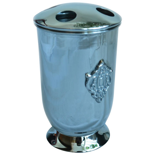 St. Pierre Classique Tooth Brush Holder - Silver