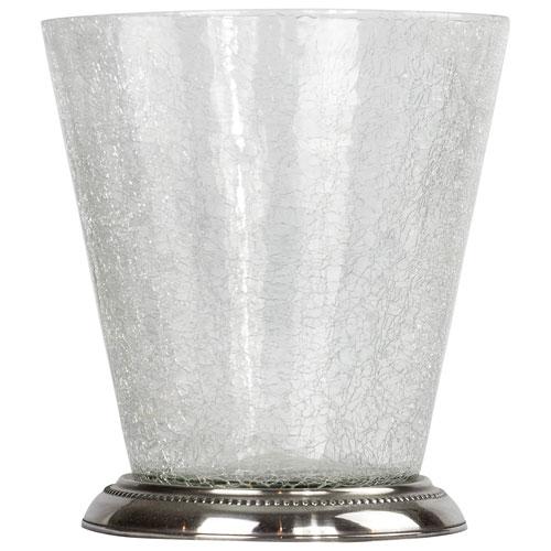 St. Pierre Saxony Wastebasket - Silver