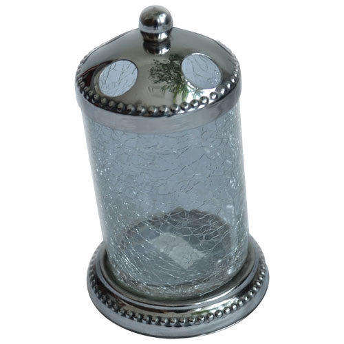 St. Pierre Saxony Tooth Brush Holder - Silver