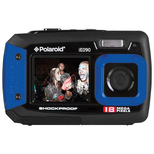 Polaroid iE090 Waterproof 18MP 4x Optical Zoom Digital Camera - Blue