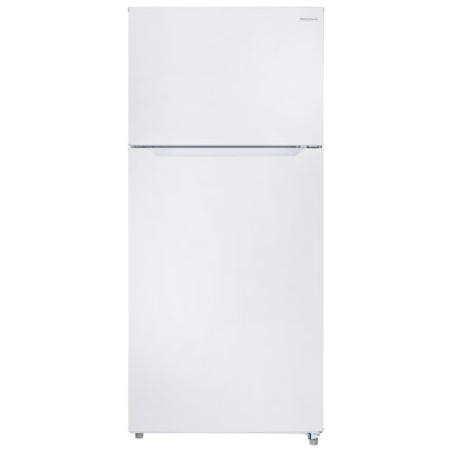 white refrigerator. ft. top freezer refrigerator with led lighting (ns white