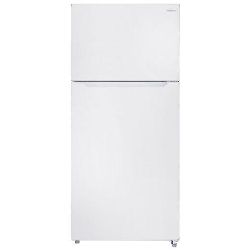 Réfrigérateur à congélateur supérieur avec DEL 18 pi3 30 po de Insignia (NS-RTM18WH7) - Blanc