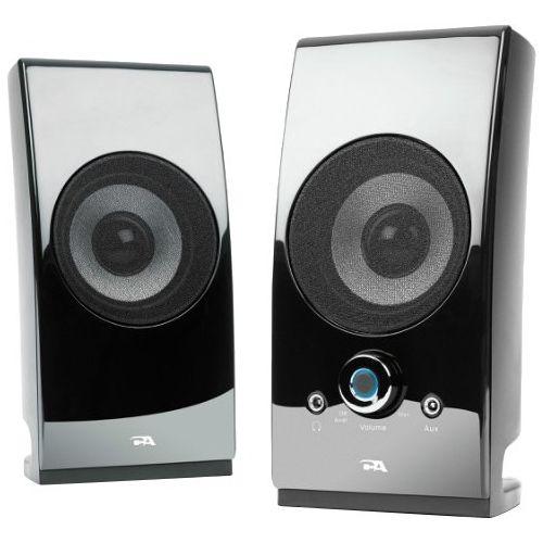 Cyber Acoustics CA-2027 Speaker System - 5 W RMS - Desktop - Glossy Black