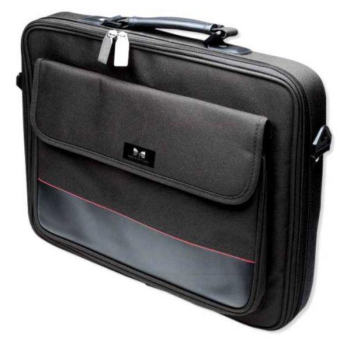 """Manhattan Empire II 17"""" Laptop Briefcase, Black"""