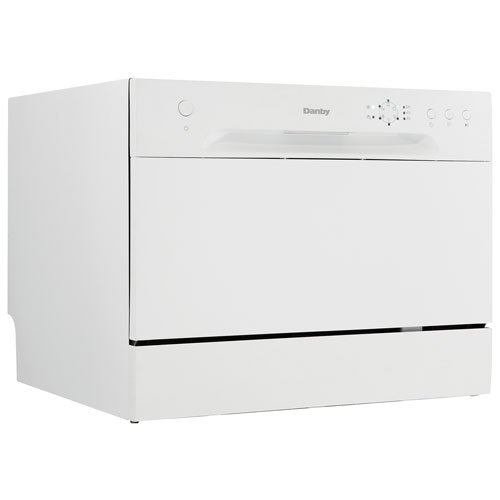 "Danby 22"" 52dB Portable Dishwasher with Stainless Steel Tub (DDW621WDB) - White"