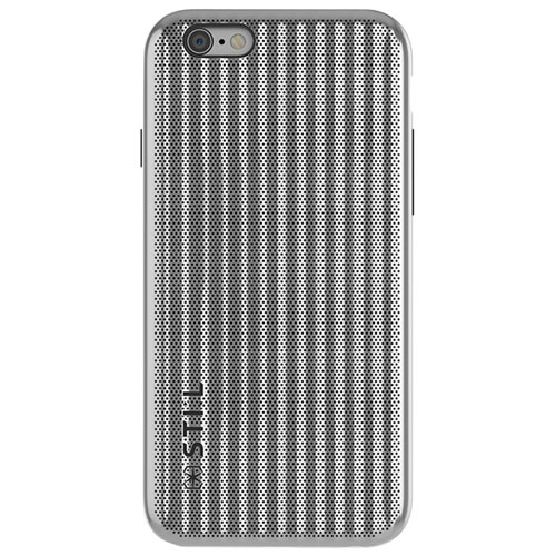 STI:L Jet Set iPhone 6/6s Fitted Soft Shell Case - Silver