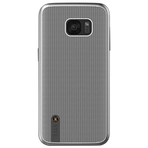 STI:L Chain Veil Samsung Galaxy S7 edge Fitted Soft Shell Case - Silver