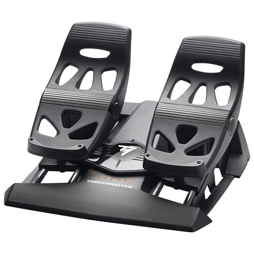 Thrustmaster TFRP Flight Rudder Pedals for PS4/PC - Black